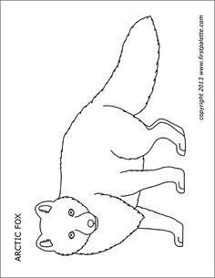 Arctic fox coloring page | Arctic fox art, Arctic animals ...