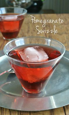 Pomegranate Swizzle has a lot of fruity flavors and with the flavor depth of pomagranate and rum added it makes for a fantastic drink.
