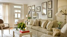 10 Favorite Living Rooms:  Decorating Above the Sofa