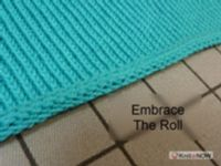 Crisp Rolled Edge Tutorial For Machine - Single Bed   Machine Knitting Tutorial.  Looks like it is sewn down.
