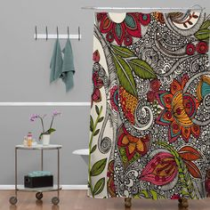 Valentina Ramos Random Flowers Shower Curtain   DENY Designs Home Accessories