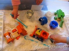 """cute use of """"instant snow"""" without too much mess."""