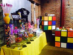 Retro. 80s candy buffet - g catering Nashville tn