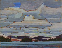 Spring, Canoe Lake (Alternate titles: Clouds over Lake; Rain Clouds), 1916 by Tom Thomson on Curiator, the world's biggest collaborative art collection. Emily Carr, Group Of Seven Paintings, Paintings I Love, Canadian Painters, Canadian Artists, Landscape Art, Landscape Paintings, Tom Thomson Paintings, Pictures To Paint