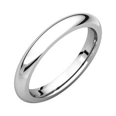 Bonyak Jewelry 14k White Gold 3 mm Milgrain Lightweight Comfort-Fit Band Size 10