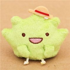 Green Mini Sumikkogurashi Seaweed with Hat Plush Toy $7.14 http://thingsfromjapan.net/green-mini-sumikkogurashi-seaweed-hat-plush-toy/ #sumikko gurashi #san x products #kawaii plush