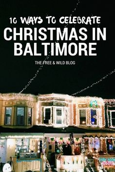 If you know me, you know that I love Christmas and I love Baltimore. And now, I have the BEST ways to celebrate in good ol& Charm City! So whether you are from here, or just visiting, here are the MUST DO& Baltimore Orioles Baseball, Baltimore Maryland, Baltimore Food, Why Christmas, Christmas Holidays, Winter Holidays, Christmas Lights, Delicious Destinations, Stuff To Do