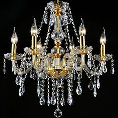 Kattokruunu - Kristalli - Moderni / Traditionaalinen/klassinen - Kristalli / LED / Polttimo mukana toimituksessa – EUR € 195.99