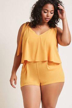 61 Ideas moda casual plus size forever 21 Plus Size Romper, Plus Size Jeans, Plus Size Dresses, Plus Size Outfits, Curvy Girl Fashion, Look Fashion, Trendy Fashion, Womens Fashion, Affordable Fashion