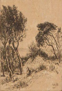 VICTOR COBB, TI TREE MENTONE, ETCHING, 2/50, 8.5 X 9.5CM