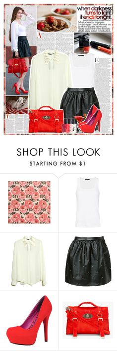 """""""Untitled #248"""" by sofi288 ❤ liked on Polyvore featuring SCARLETT, MANGO, Dollhouse, Mulberry, American Apparel, Bailey, Vous Etes, girl, dog and street style"""
