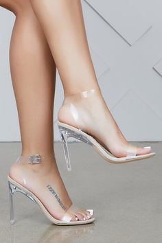 99ab8267534 Invisible Love Clear Heel. Sexy Legs And HeelsSexy FeetClear Heel ShoesShoes  ...