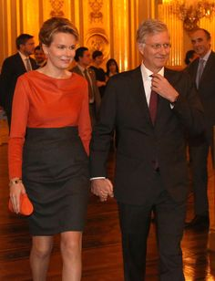 Princess Mathilde with Prince Philippe