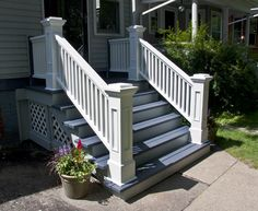 outdoor newel post | Edgewater Front Porch, Rails and Newel Posts