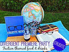 Bringing Up Burns: Divergent Premiere Party Ideas - ERUDITE :: Blue food, drinks, decorations