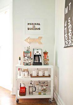 como decorar um canto da sala cantinho do café
