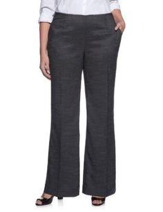 eloquii Signature Wide Leg Pant Black Tweed 18W eloquii. $35.96