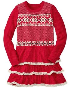 63a3b2ef98 Hanna Andersson 2015-2016 Let it Snö Sweater Dress in Äpple Red (80-