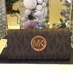 Michael kors fulton flap wallet Brand new with tags 100% authentic brown large Michael Kors Bags Wallets
