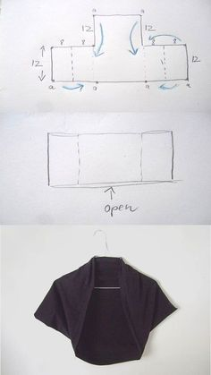 DIY Square Bolero Tutorial idea for bolero jacket for citrus interviewDIY Square Bolero Tutorial - for when I actually know how to sew!Easy pattern and sewing: bolero jacket / topLecture d'un message - mail Orange PlusShrug you sew Diy Clothing, Sewing Clothes, Clothing Patterns, Sewing Patterns, Fashion Sewing, Diy Fashion, Sewing Hacks, Sewing Tutorials, Sewing Projects