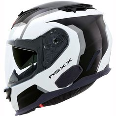 Nexx XT1 Galaxy Helmet - White Black
