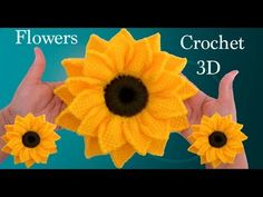 Lapghans Crochet - Como hacer girasoles en a Crochet en punto tunecino tejido tallermanualperuHow to make a round straw bag Poncho Crochet, Crochet Doily Rug, Crochet Round, Irish Crochet, Crochet Stitches, Embroidery Stitches, Crochet Hair, Crochet Flower Tutorial, Crochet Flower Patterns