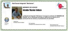 Martianos. Giraldo Mazola Collazo. Miembro de Honor.