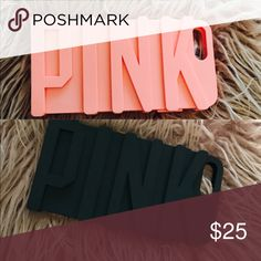 2 iPhone 6plus cases Victoria's Secret pink Brand new PINK Victoria's Secret Accessories Phone Cases