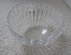 """Tiffany Crystal Bowl in Vertical Pattern (6.25"""" across; 3.25"""" tall)"""