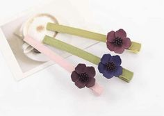 3 Fashion Color Daisy Hair Clips/Barrettes (Set of 3) from LilyFair Jewelry, $11.99
