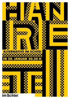 Erich Brechbühl [Mixer], poster for Kulturkeller im Schtei