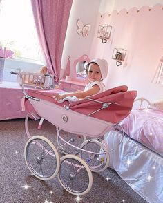 Vintage Pram, Dolls Prams, Baby Prams, Toddler Bed, Home Decor, Silver Cross Prams, Kids Wagon, Baby Strollers, Child Bed