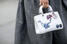 Pin for Later: The Best Street Style Accessories We Saw at Paris Fashion Week PFW Day Four Dior bag