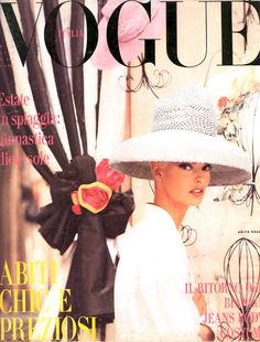 Such a beautiful cover: Linda Evangelista for Vogue Italia - May 199. Photographed by Steven Meisel