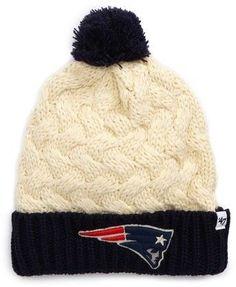 47 Women s New England Patriots Pom Beanie - White Patriots Logo 4614446fd
