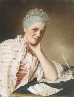Portrait de Mademoiselle Louise Jacquet Jean Etienne Liotard by Jean-Etienne Liotard