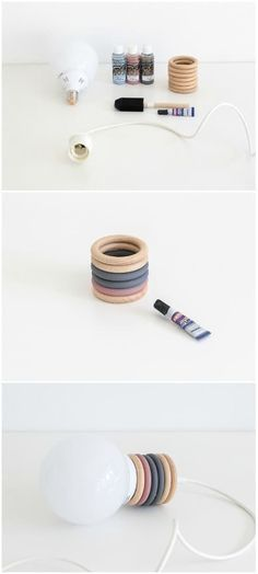 Tutorial DIY | Recycle Curtain Rings Into a Design Pendant Lamp - (source: idlights.com)