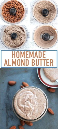Delicious homemade almond butter made 2 ways! Creamy, natural, and oh so yummy