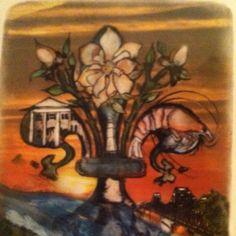Artwork bought at Red River Revel in Shreveport