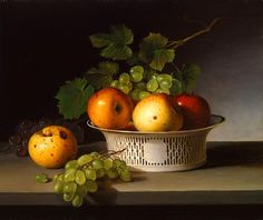 James Peale  Fruit Still Life with Chinese Export Basket  1824