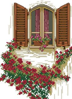 Window with flowers To get the chart, click on the first line under the photo