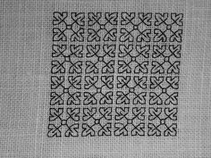 Blackwork fill-in pattern 160, via Flickr.