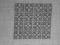 Blackwork fill-in pattern 160, via Flickr.