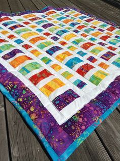 Colorful Batik Quilt