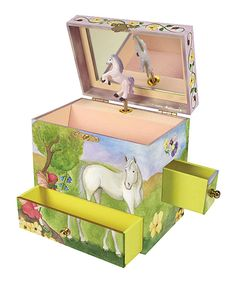 Graphic Wrap Ballerina Musical Jewelry Box for Girls Musical