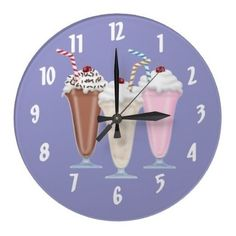 Shop Milkshake Large Clock created by Personalize it with photos & text or purchase as is!
