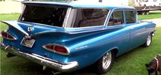 Really Cool Chevrolet Station Wagon. This Chevy is just one of Tim's hot rod collection and is one of those classic cars you don't get to see very Chevy Classic, Best Classic Cars, General Motors, Vintage Cars, Antique Cars, Dodge, Volkswagen, Station Wagon Cars, Toyota