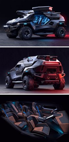 Designed to provide you with comfortable conditions on the inside, regardless of how harsh and brutal the world outside is, the car transportation called the ARMORTRUCK keeps its interiors cool and comfy at all times, how? READ MORE NOW! Cool Sports Cars, Sport Cars, Cool Cars, Future Concept Cars, Future Car, Army Vehicles, Armored Vehicles, Audi Ai, Future Transportation