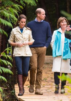 Kate Middleton Photos Photos - Catherine, Duchess of Cambridge and Prince William, Duke of Cambridge walk through the Great Bear Rainforest in Bella Bella, Canada, during the third day of the Royal Tour to Canada on September 26, 2016. Prince William, Duke of Cambridge, Catherine, Duchess of Cambridge, Prince George and Princess Charlotte are visiting Canada as part of an eight day visit to the country taking in areas such as Bella Bella, Whitehorse and Kelowna. - 2016 Royal Tour To Canada…