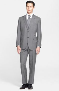 Canali Men's Big Tall Classic Fit Wool Suit | Clothing